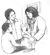 врач осматривает ребёнка на дому