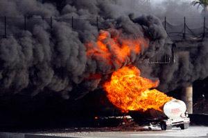 пожар с большим количеством дыма