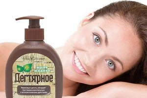 жидкое дягтерное мыло для лица фото