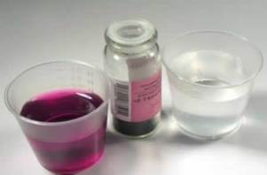 Цианид калия и вода