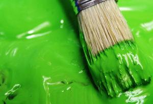 краска зелёного цвета