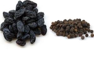 горсти изюма и чёрного перца