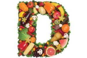 фрукты и овощи выложены в форме буквы Д