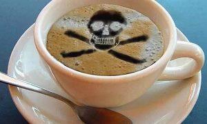 знак смерти на кофейной пене