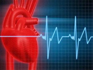 рисунок сердца и пульса на стенограмме