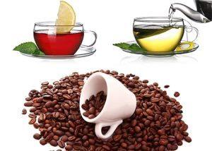 чёрный, зелёный чай и кофе