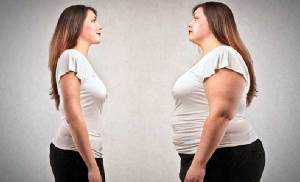 толстая женщина и после того как похудела