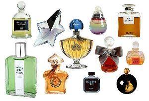 бутылочки с парфюмерными средствами