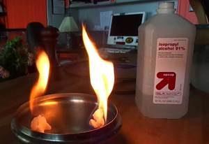 фото горения изопропилового спирта