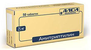 пачка таблеток «Амитриптилин»