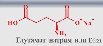 химическая формула глутамата натрия