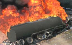 возгорание бензина