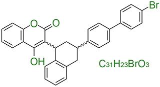 структурная и химическая формула бродифакум