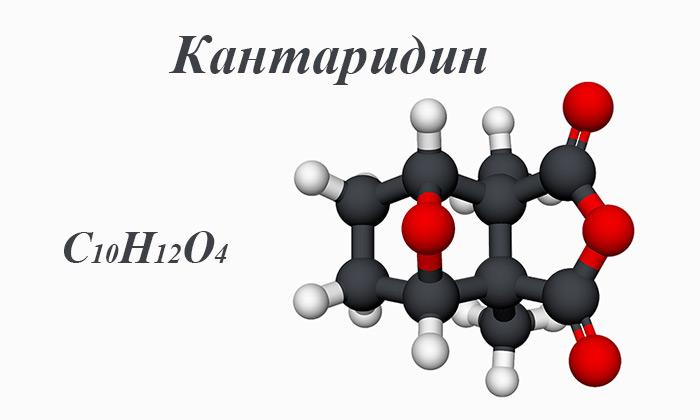химическая и структурная формула кантаридина