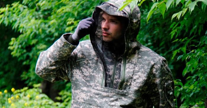 защитная одежда в лесу